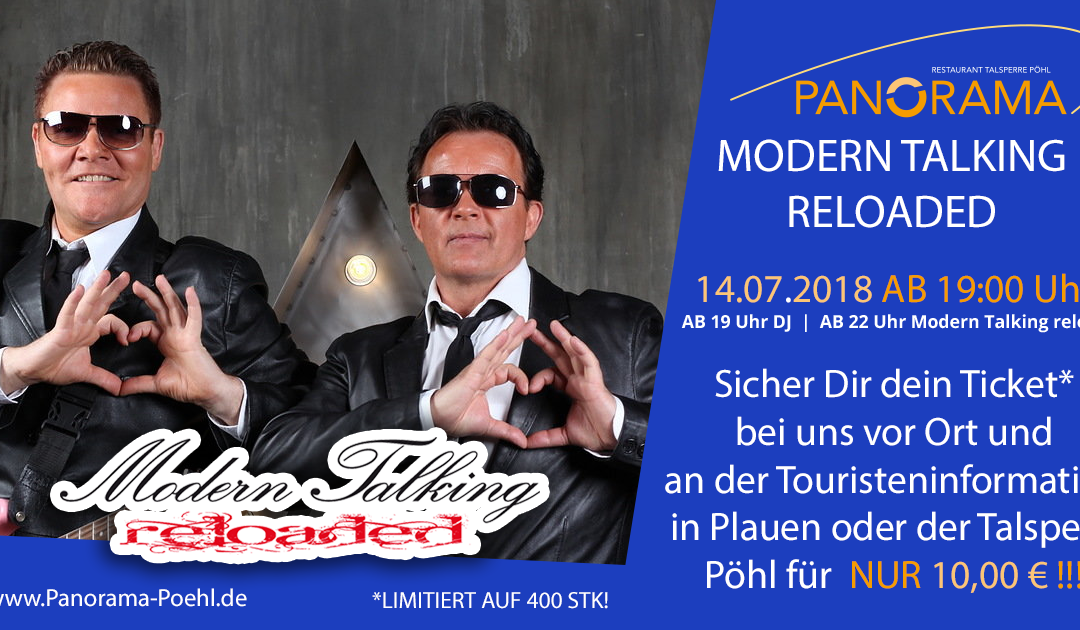 Modern Talking Reloaded – 14.07.2018 ab 19:00 Uhr