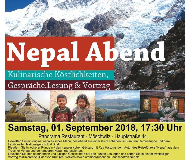 Nepalabend – Samstag den 01. September 2018 ab 17:30 Uhr